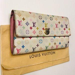 LOUIS VUITTON Multicolor Sarah Wallet w dust bag